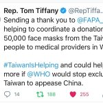 "FAPA Wraps up ""Face Shields/Masks from Taiwan"" Donation Campaign – Calls for Full WHO Membership for Taiwan"